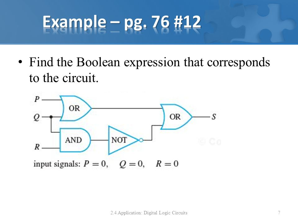 Find the Boolean expression that corresponds to the circuit.