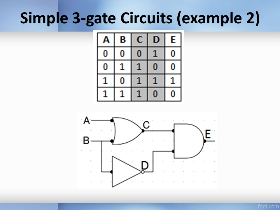 Simple 3-gate Circuits (example 2)