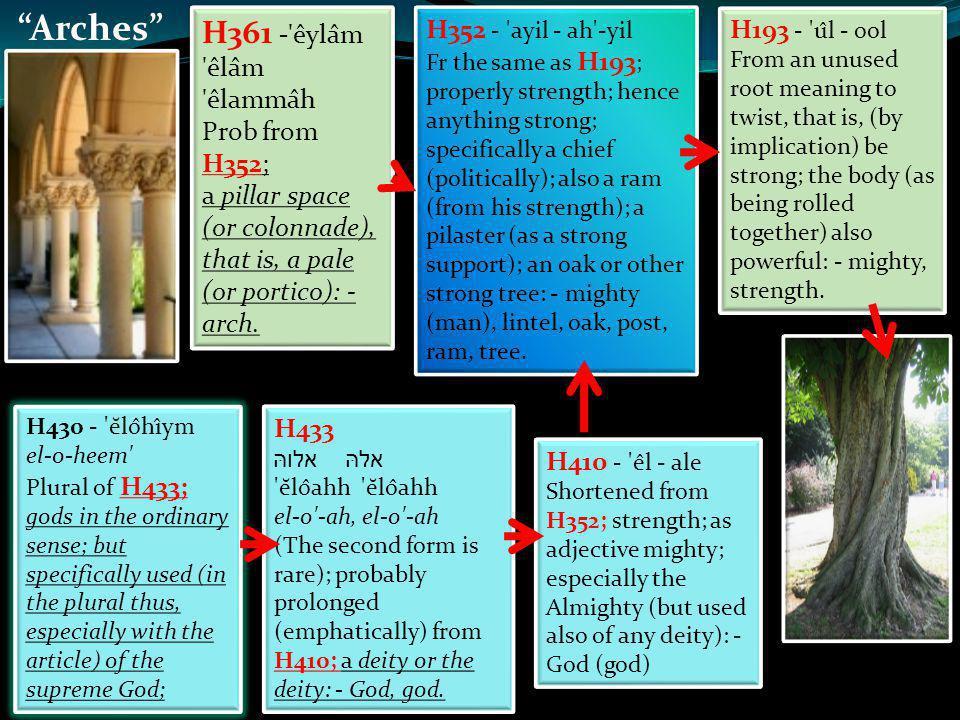 God H433 אלהּ אלוהּ ĕlôahh el-o -ah, el-o -ah (The second form is rare); probably prolonged (emphatically) from H410; a deity or the deity: - God, god.
