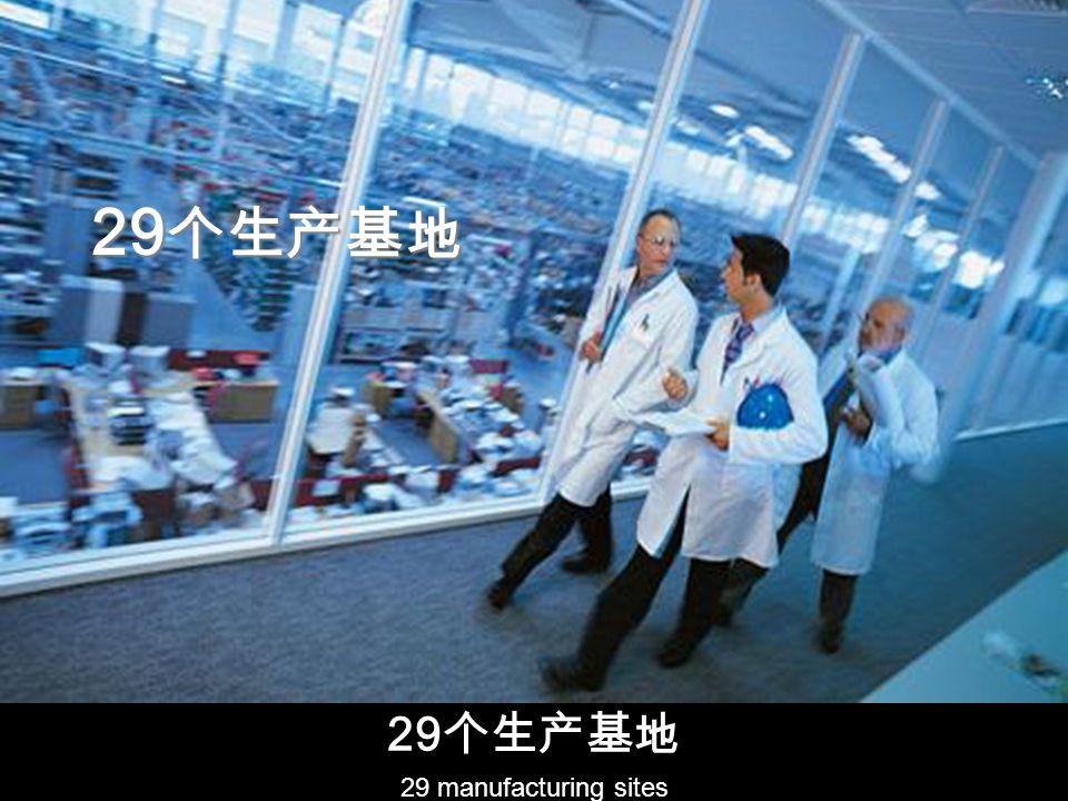 29 29 manufacturing sites 29 29