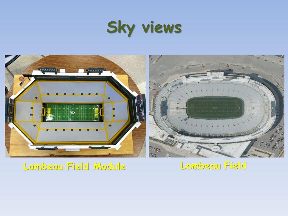 Sky views Lambeau Field Module Lambeau Field