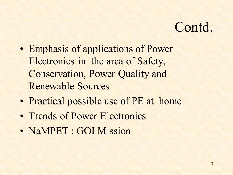 NaMPET: National Mission on Power Electronics Technology NaMPET is a national mission programme launched in November 2004 by the Department of Information Technology(DIT) under Ministry of Communications & Information Technology, Government of India.