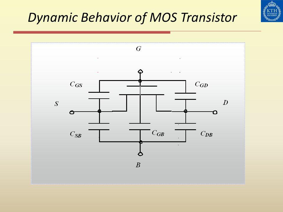 Dynamic Behavior of MOS Transistor