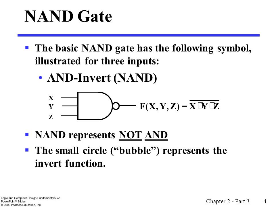 Chapter 2 - Part 3 15 Example: Even Function Implementation Design a 4-input odd function F = W X Y Z with 2-input XOR and XNOR gates Factoring, F = (W X) (Y Z) The circuit: + ++ + ++ W X Y F Z