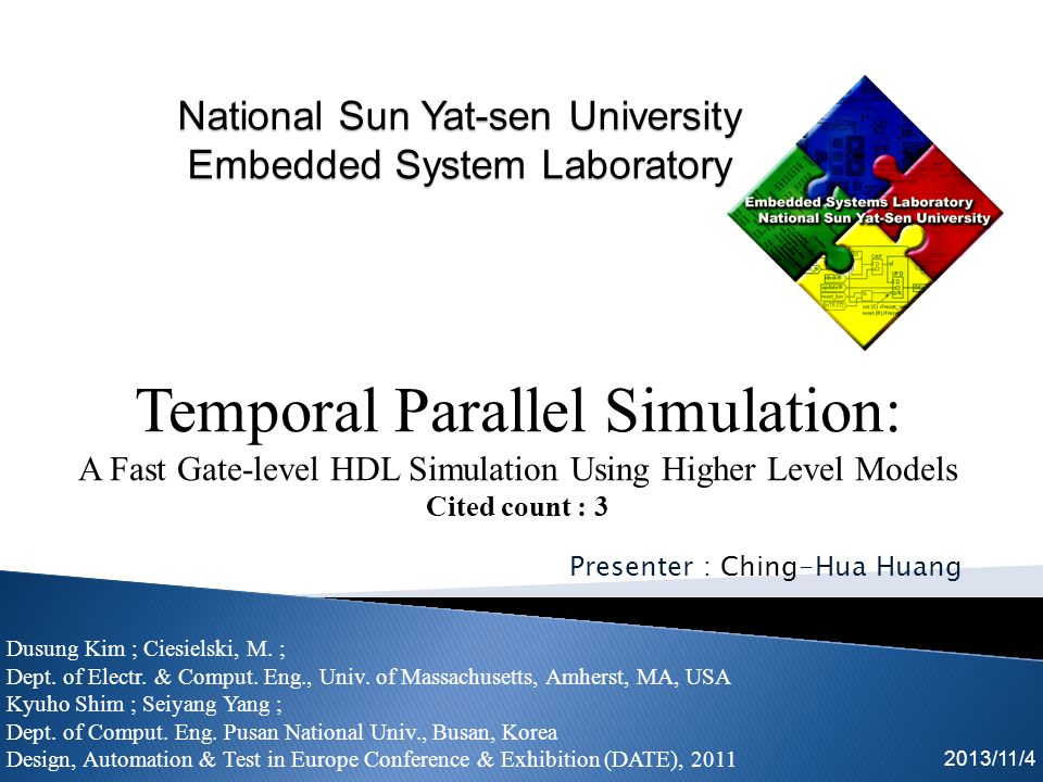 Simulation speedup offered by distributed parallel event-driven simulation is known to be seriously limited by the synchronization and communication overhead.