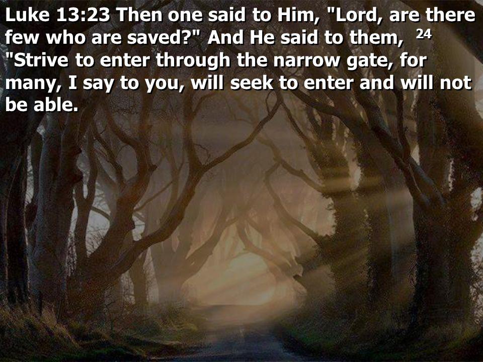 Luke 13:23 Then one said to Him,