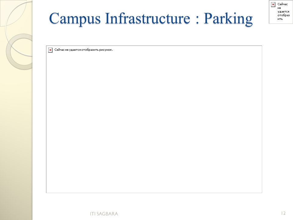 Campus Infrastructure : Parking ITI SAGBARA 12