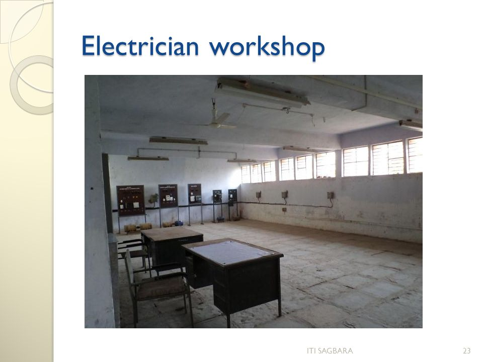 Electrician workshop ITI SAGBARA23