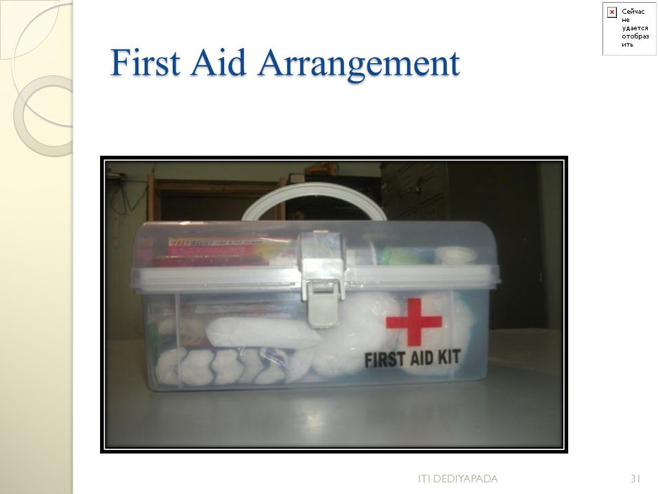 First Aid Arrangement ITI DEDIYAPADA31