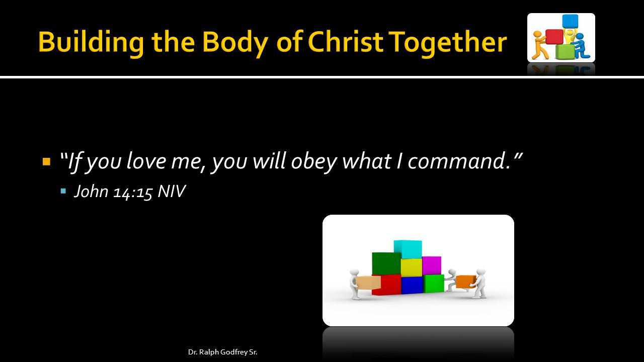 If you love me, you will obey what I command. John 14:15 NIV Dr. Ralph Godfrey Sr.