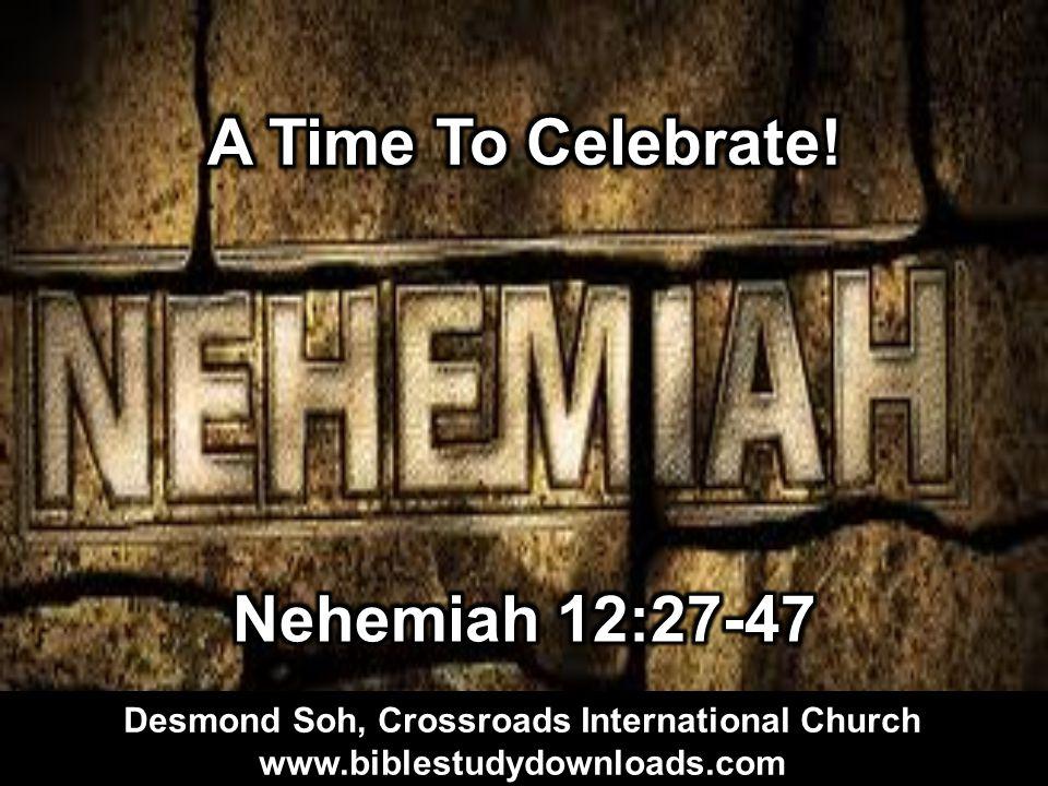 Desmond Soh, Crossroads International Church www.biblestudydownloads.com