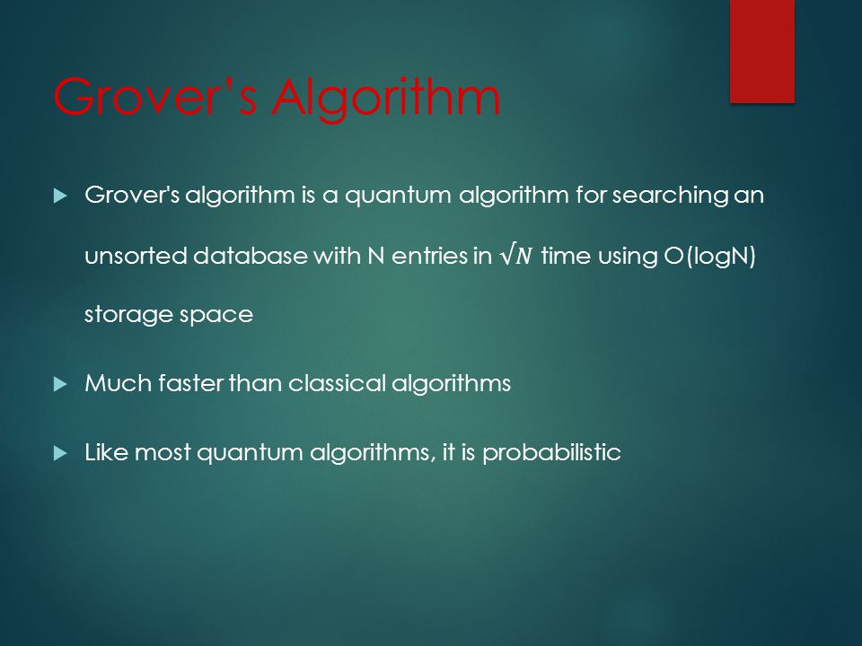 Grovers Algorithm