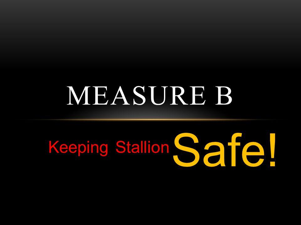 Keeping Stallion MEASURE B Safe!