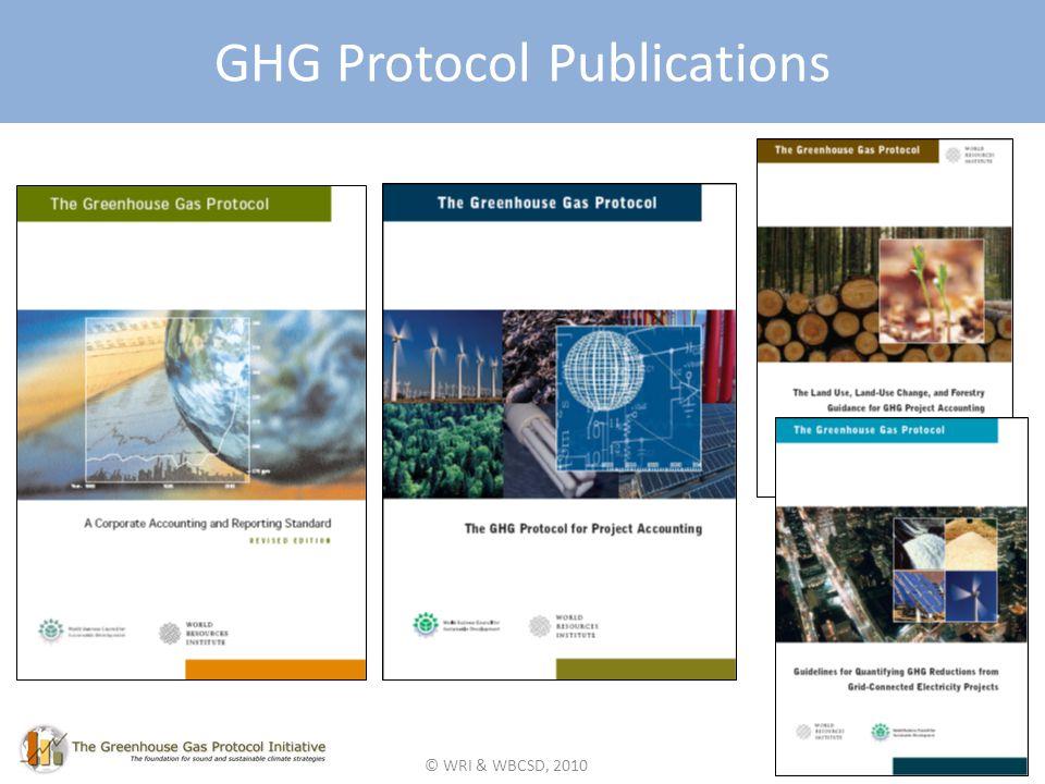 © WRI & WBCSD, 2010 GHG Protocol Publications