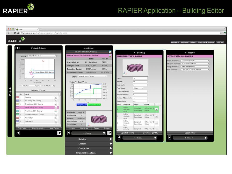 RAPIER Application – Building Editor