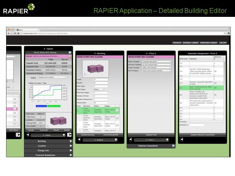 RAPIER Application – Detailed Building Editor