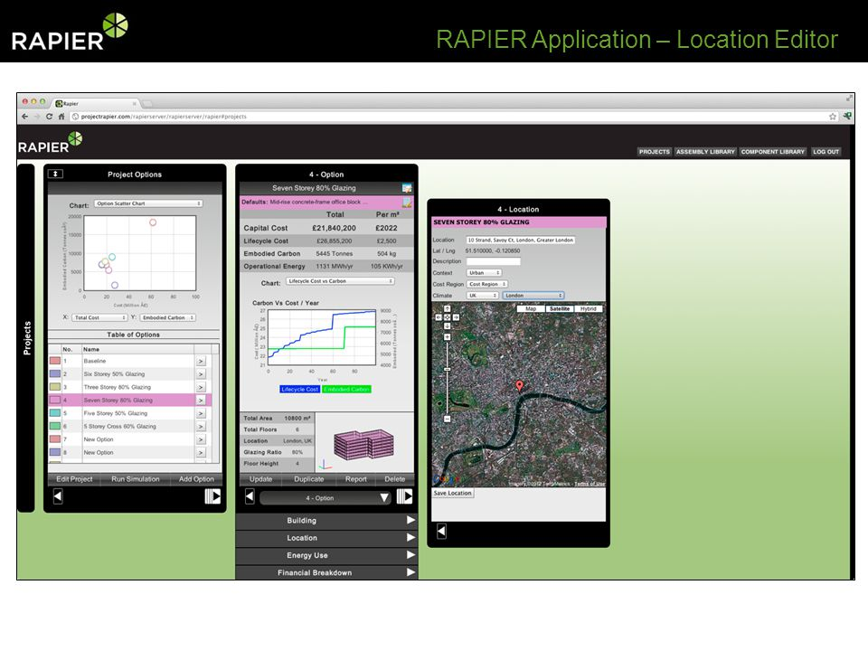 RAPIER Application – Location Editor