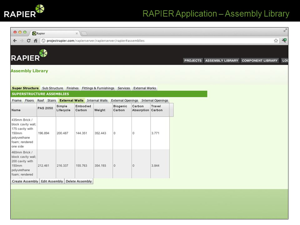 RAPIER Application – Assembly Library