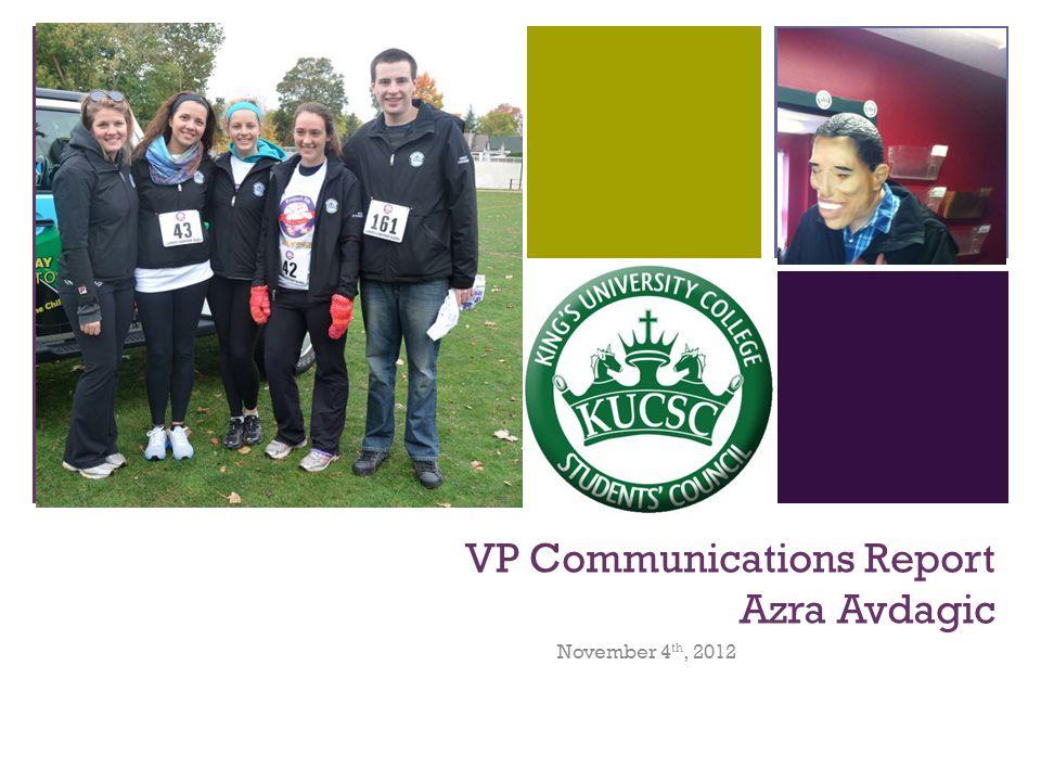 + Contact Me! communications@kucsc.com /azra.avdagic @azraavd 519-933-8807