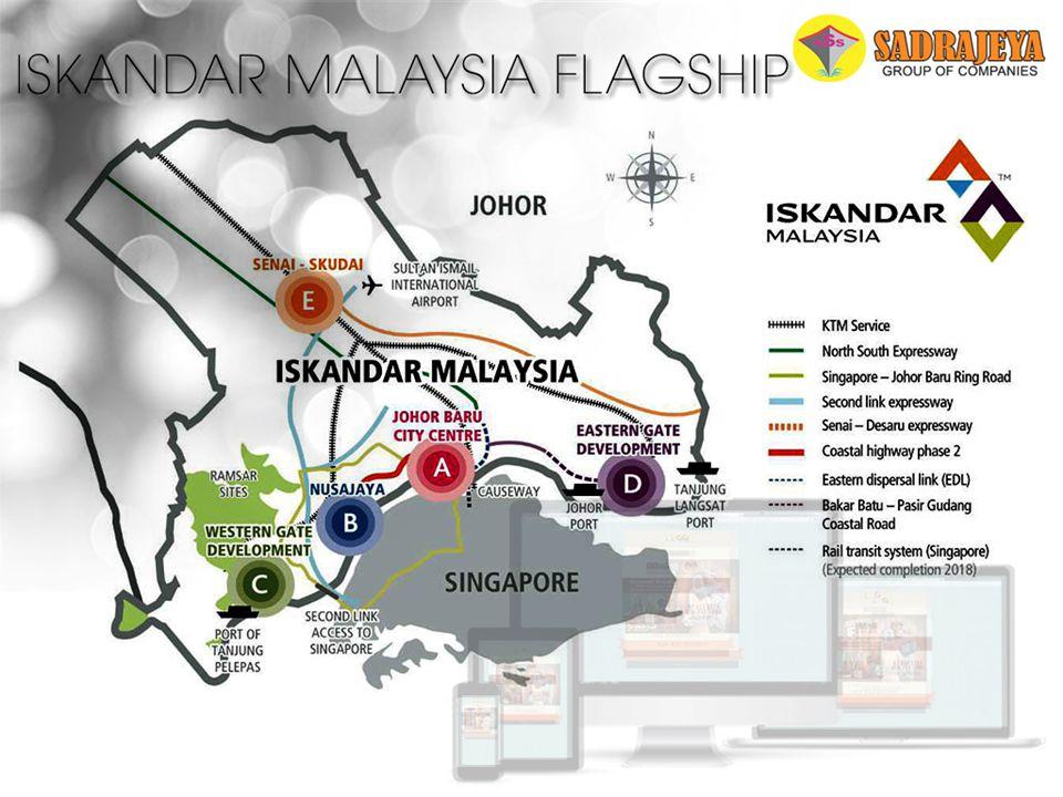 Iskandar Malaysia Flagship Senai - Skudai Western Gate Development Nusajaya Johor Bahru Town City Eastern Gate Development