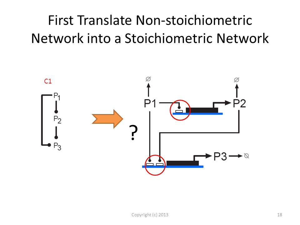 First Translate Non-stoichiometric Network into a Stoichiometric Network Copyright (c) 201318 C1