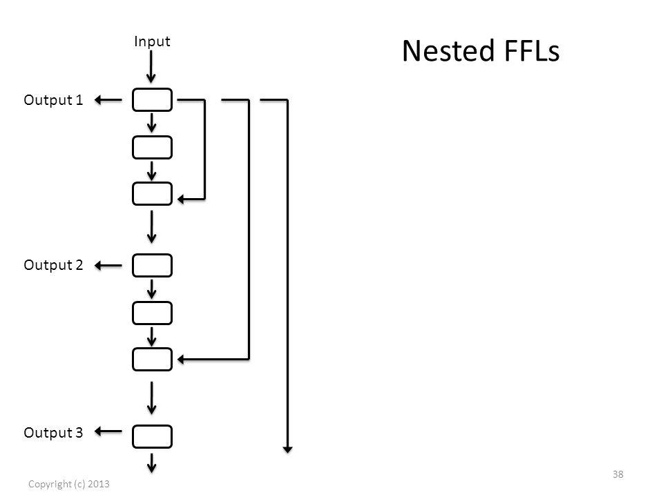 Nested FFLs Copyright (c) 2013 38 Input Output 1 Output 2 Output 3