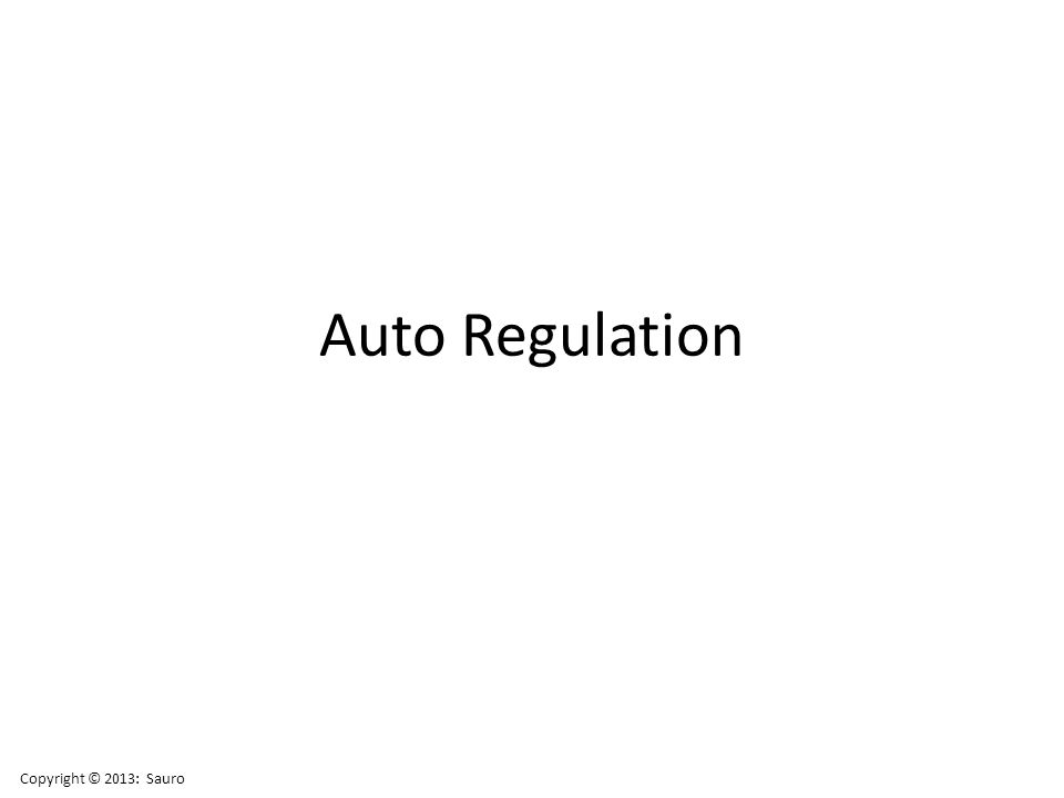 Auto Regulation Copyright © 2013: Sauro