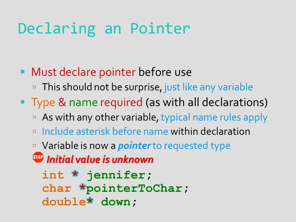 Declaring an Pointer