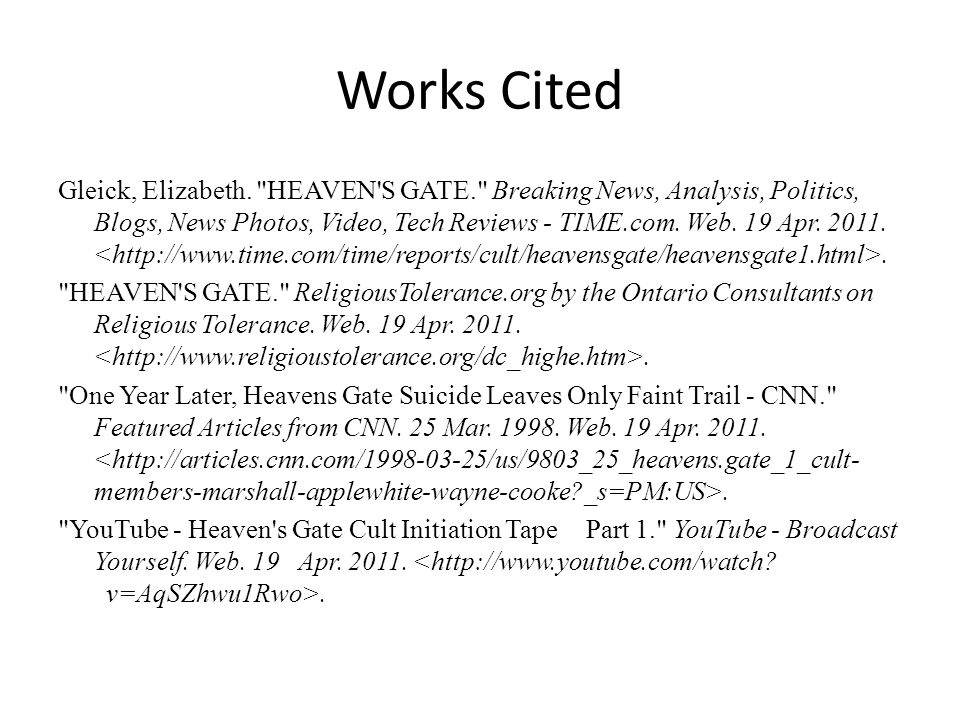 Works Cited Gleick, Elizabeth.