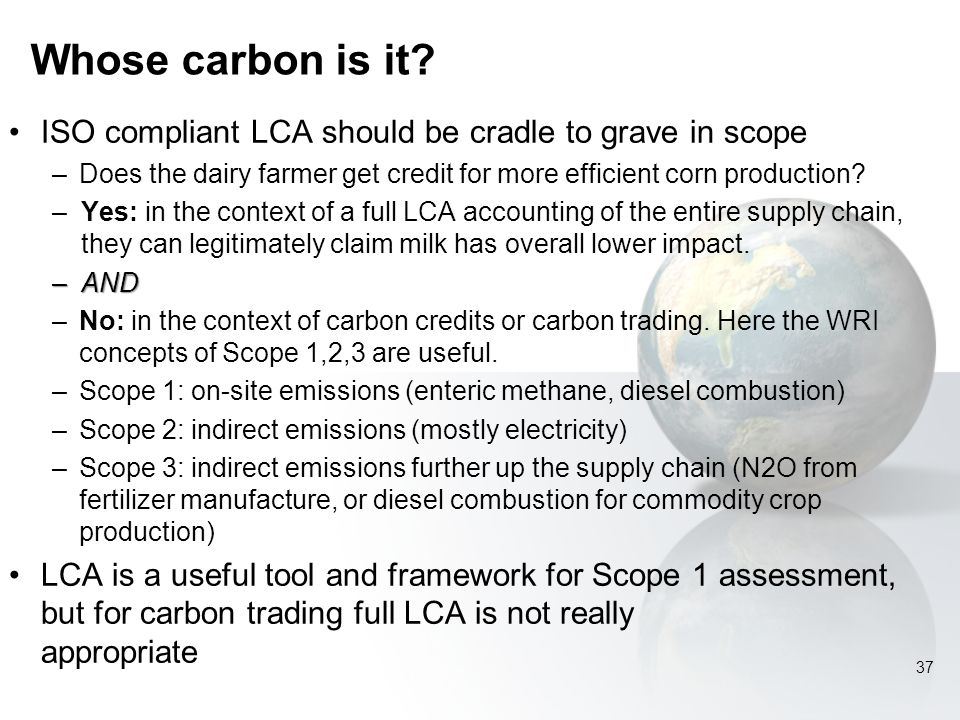Whose carbon is it.