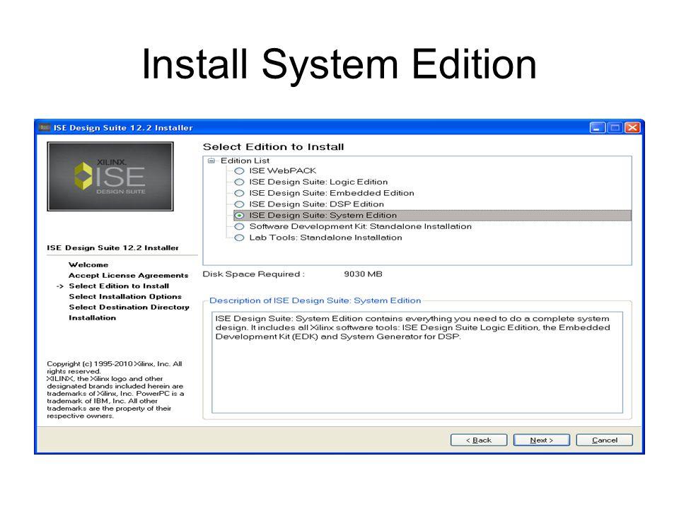 Install System Edition