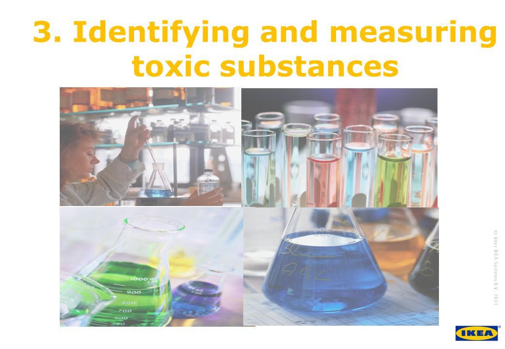 growing IKEA Together © Inter IKEA Systems B.V. 2011 3. Identifying and measuring toxic substances