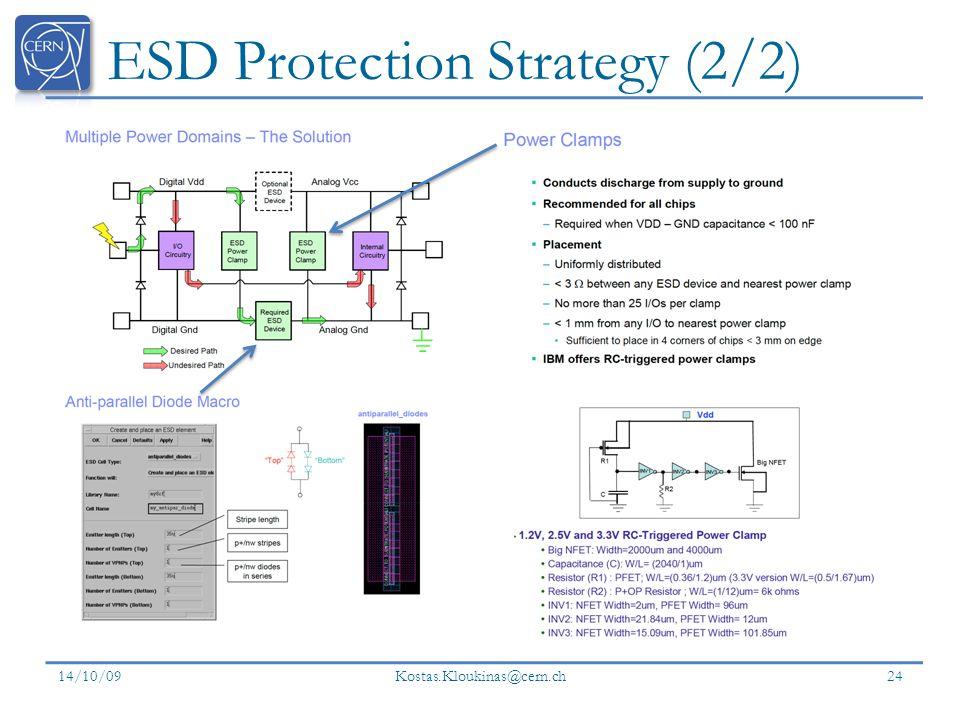 ESD Protection Strategy (2/2) 14/10/09 Kostas.Kloukinas@cern.ch 24
