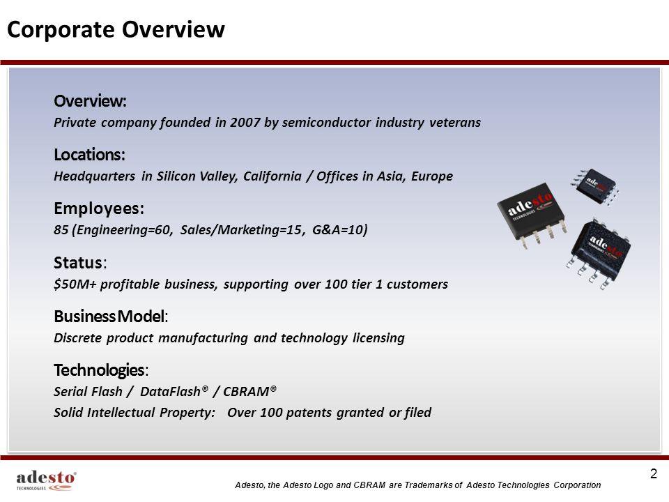 Adesto, the Adesto Logo and CBRAM are Trademarks of Adesto Technologies Corporation CENTAUR NORTH No.