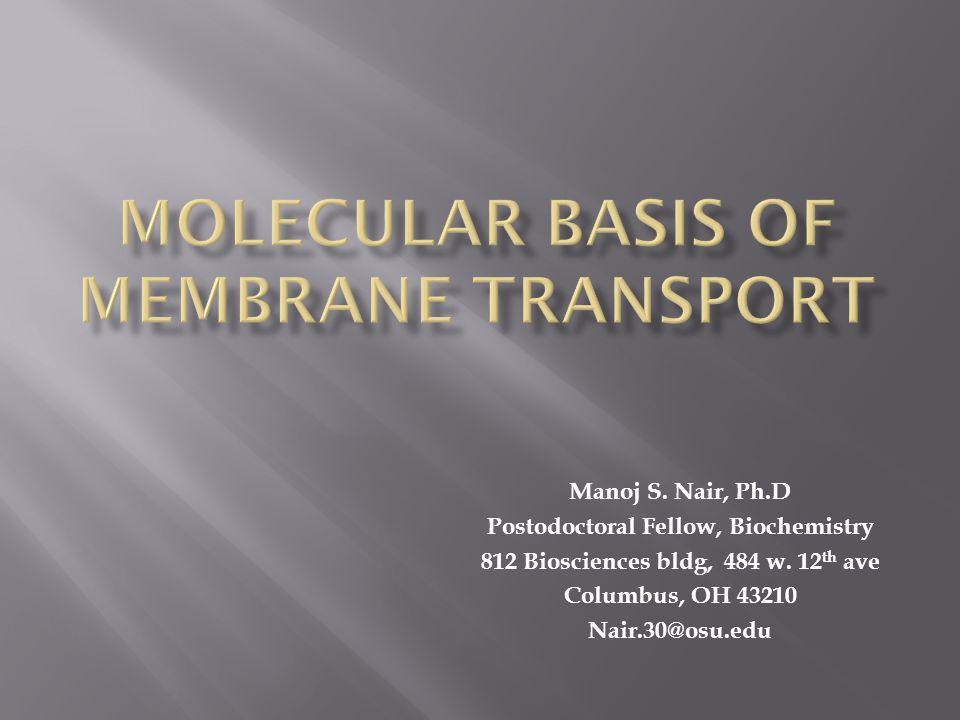 Types of transport across membranes 1.Passive transport 2.