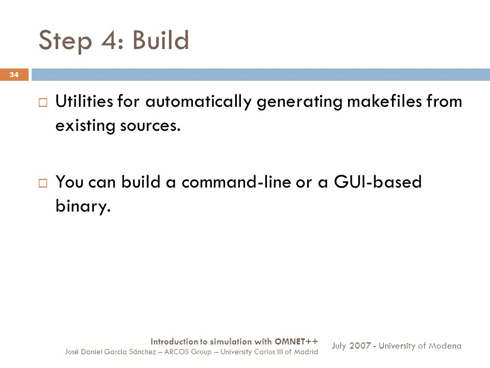 Step 4: Build 34 Utilities for automatically generating makefiles from existing sources. You can build a command-line or a GUI-based binary. Introduct