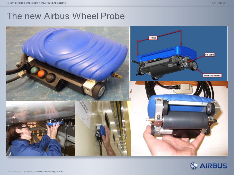 © AIRBUS S.A.S. All rights reserved. Confidential and proprietary document. The new Airbus Wheel Probe A4A Sept 2013Recent developments in NDT from Ai