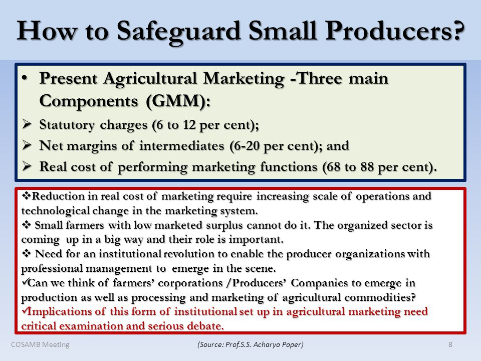 How to Safeguard Small Producers.