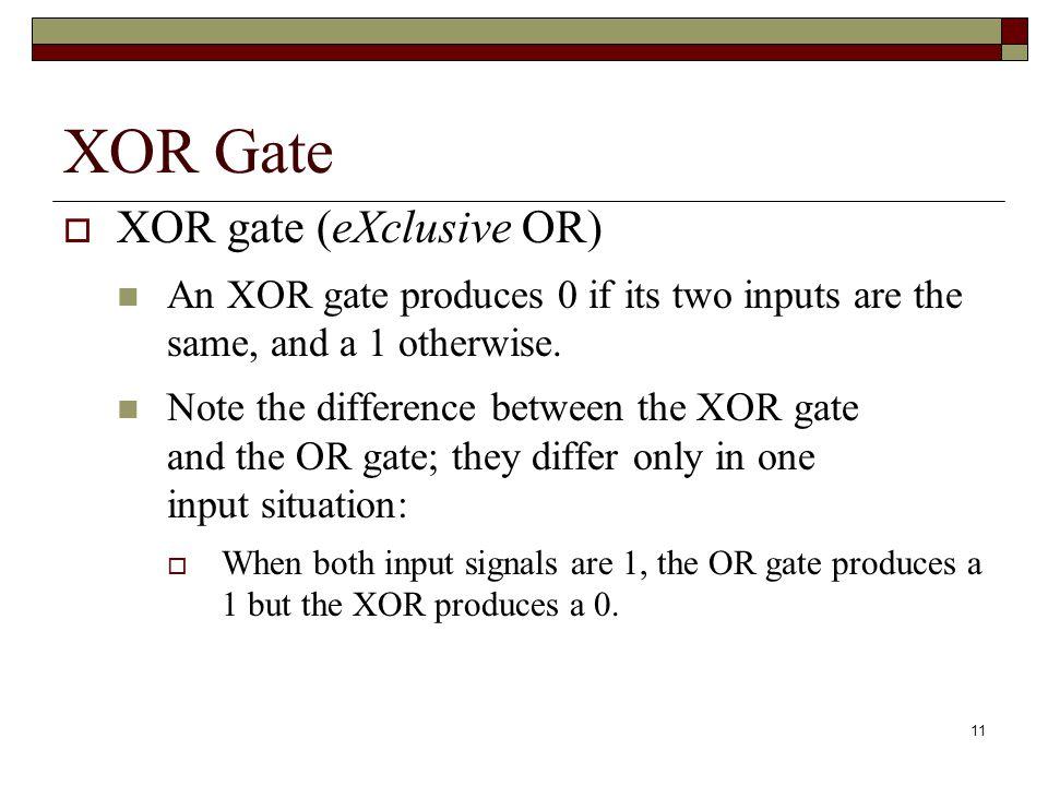 12 XOR Gate Figure 4.4 Various representations of an XOR gate