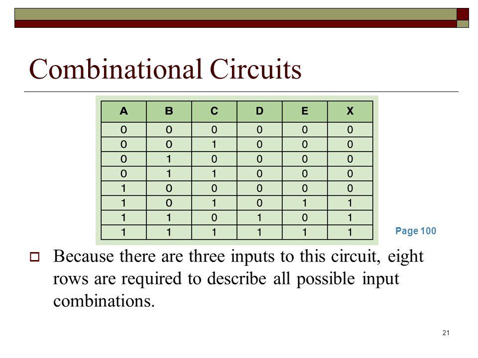22 Combinational Circuits This same circuit using Boolean algebra: AB + AC