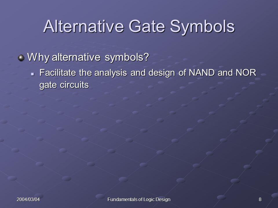 92004/03/04Fundamentals of Logic Design NAND Gate Circuit Conversion