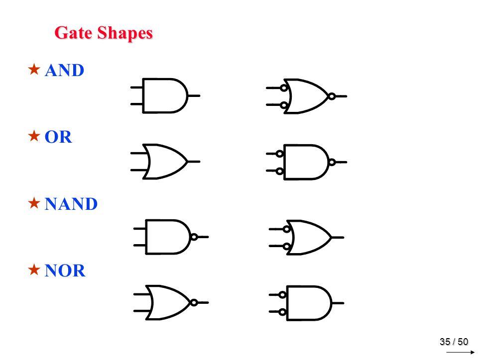 34 / 50 NAND & NOR Implementation Multilevel NOR Implementation