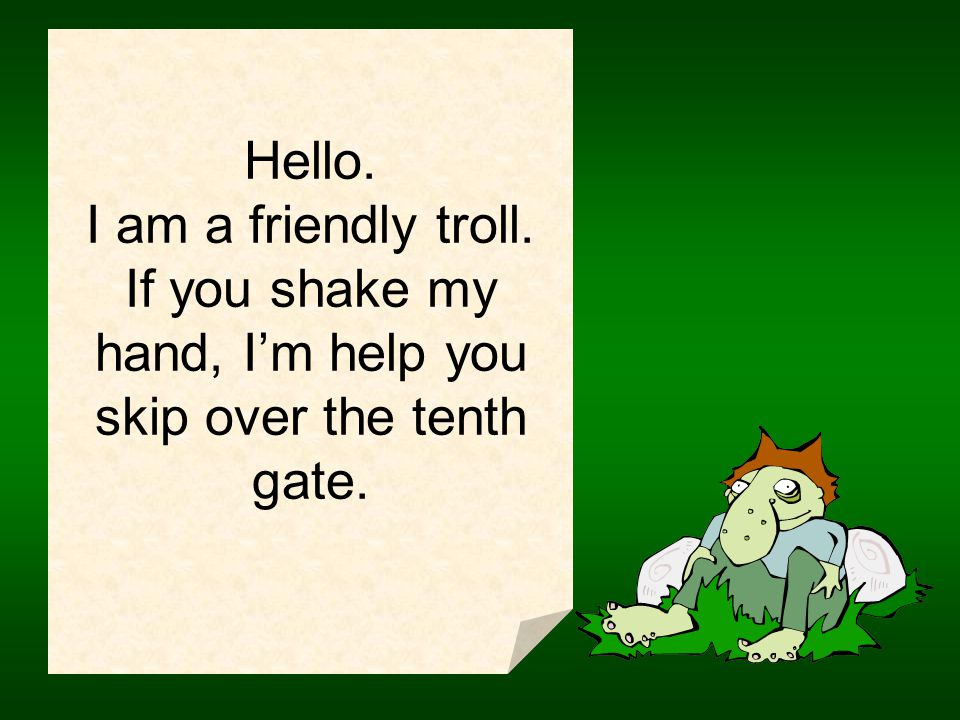 Hello. I am a friendly peasant girl.