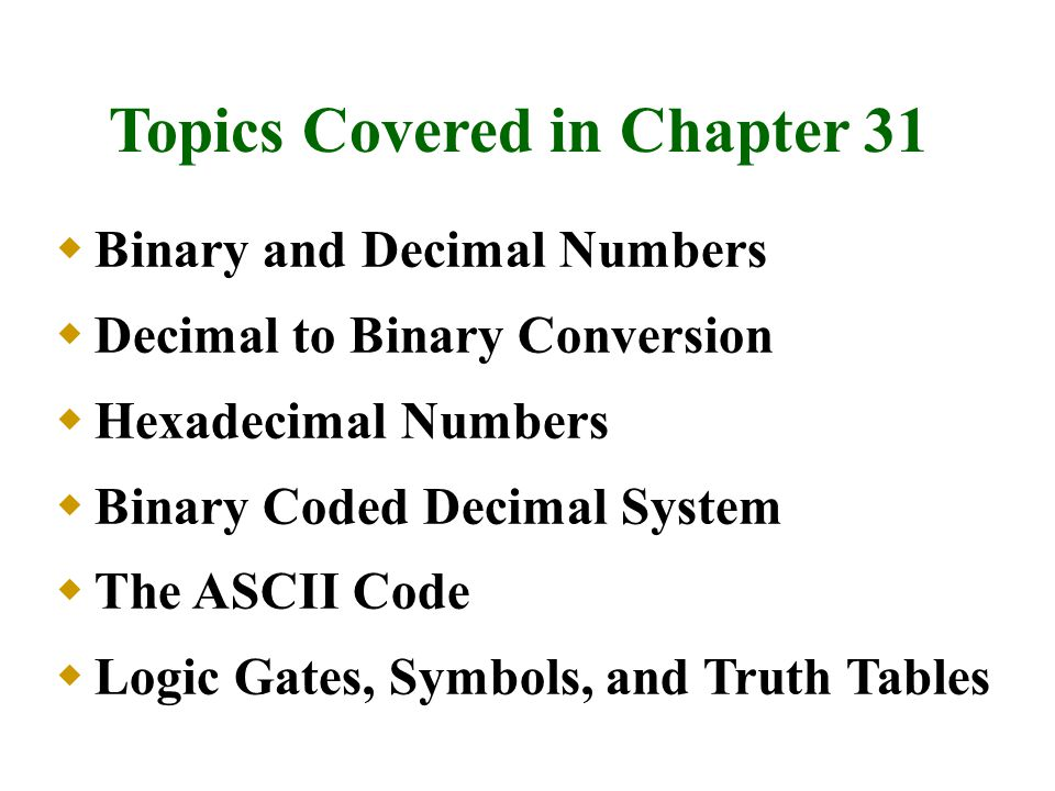 Boolean Algebra DeMorgan s Theorem Treating Unused Inputs TTL and CMOS Circuits Active HIGH/Active LOW Terminology Topics Covered in Chapter 31 (continued)