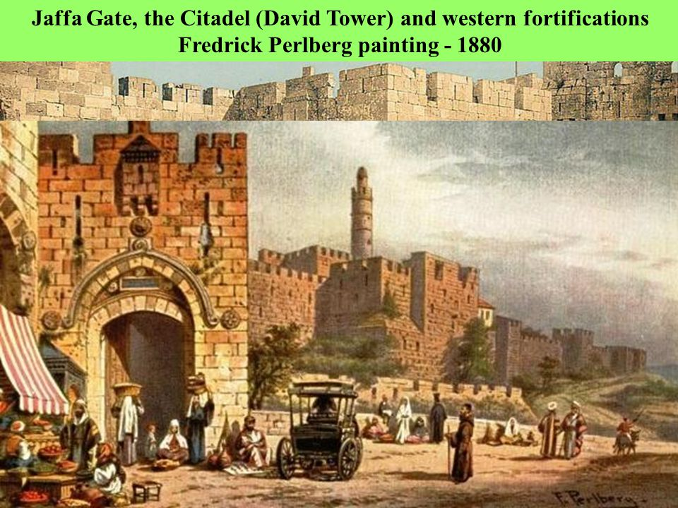 Still blocked)) Merci Gate Today1850 Merci Gate – Henri Bartlet - The Merci Gate was blocked by the Muslims upon conquering the Old City; Based on Jewish tradition the messiah will enter Jerusalem via this gate, thus the Muslims wanted to prevent that!!.