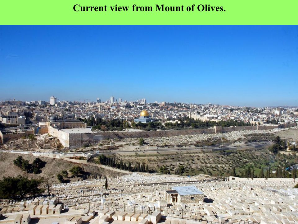 A view of Jerusalem from the top of Mount of Olives Henri Bartlet - 1850.