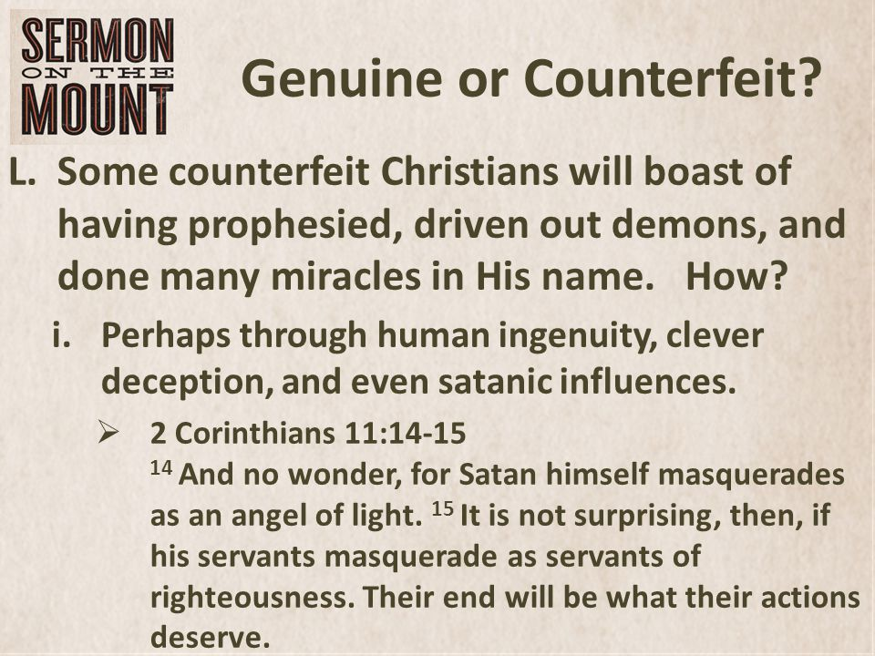 Genuine or Counterfeit.