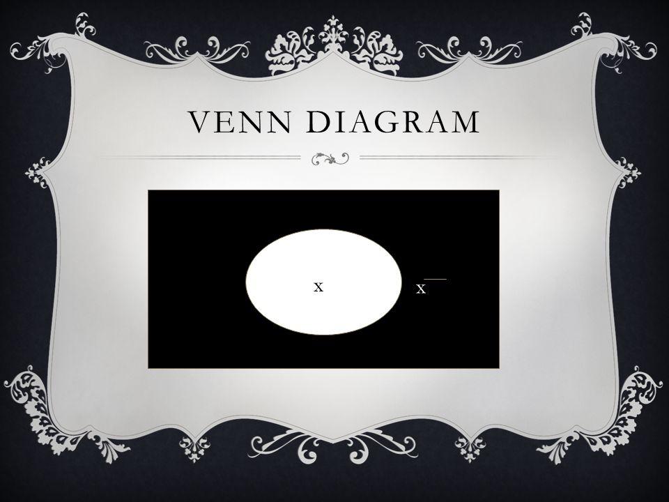 VENN DIAGRAM x x
