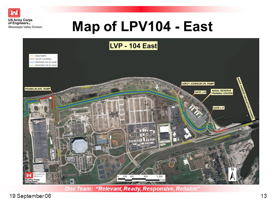 One Team: Relevant, Ready, Responsive, Reliable 19 September 0613 Map of LPV104 - East