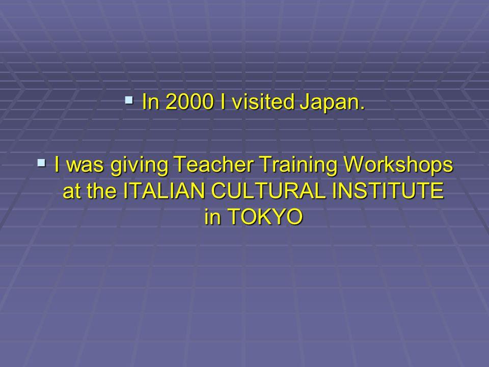 In 2000 I visited Japan.In 2000 I visited Japan.